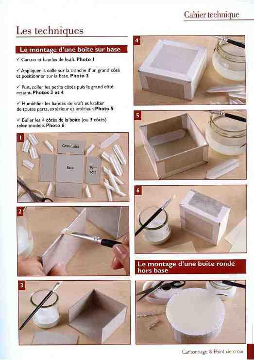 Comment coller du papier sur une boite en carton ?