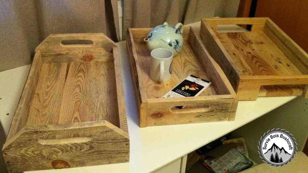 Comment faire un plateau avec des planches ?